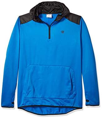 Champion Men's Big and Tall Poly PO Hood With Contrast Sleeve Zip Pouch