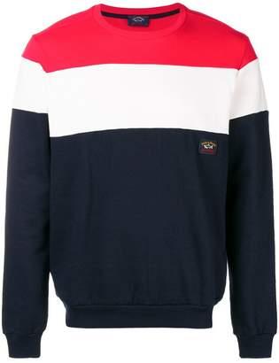 Paul & Shark colour block sweatshirt