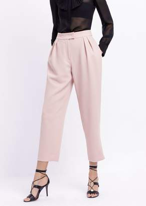 Emporio Armani Pants With Pleats In Technical Crepe Fabric