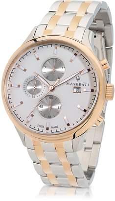 Maserati Attrazione Two Tone Stainless Steel Men's Bracelet Chrono Watch