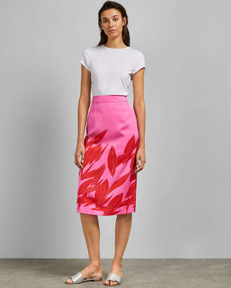 Ted Baker LUUCAS Sour Cherry midi skirt
