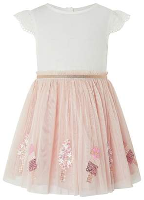 Monsoon Baby Girls' Pink 'Lolly' Disco Dress