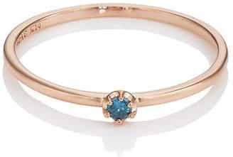 LODAGOLD Women's Blue-Diamond Ring