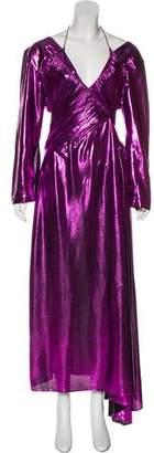 Preen by Thornton Bregazzi Metallic Maxi Dress