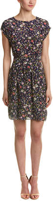 Rebecca Taylor Tapestry Silk A-Line Dress