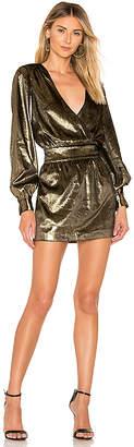 Frame Metallic Velvet Dress
