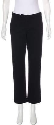 Frame Mid-Rise Straight-Leg Pants