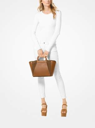 MICHAEL Michael Kors Clara Large Leather and Suede Tote