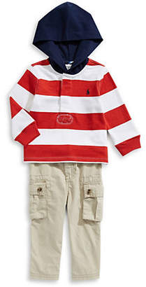 Ralph Lauren Baby Boy's Three-Piece Ruby Hoodie, Pants Belt Set