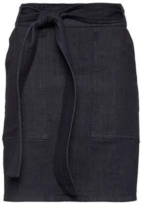 Banana Republic Denim Belted Utility Mini Skirt