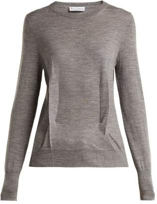 J.W.Anderson Merino Wool Knitted Sweater - Womens - Grey