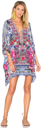 Camilla Short Lace Up Caftan $500 thestylecure.com