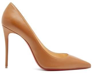 Christian Louboutin Kate 100 Leather Pumps - Womens - Tan