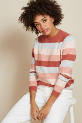 Baukjen Womens Grey With Blush Stripes Flora Tonal Jumper - Grey