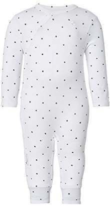 Noppies Unisex Baby V-Neck Long Sleeve Footies - White - 0-3 Months
