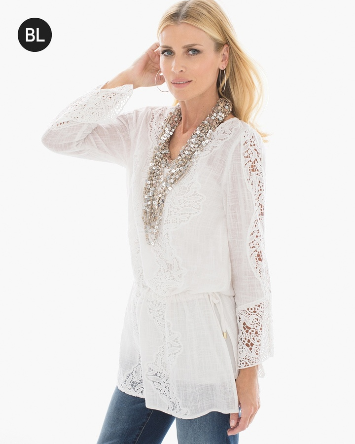 Chico's Tie-Waist Lace Tunic