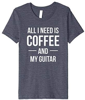All I Need is Coffee and My Guitar Music Lovers TShirt