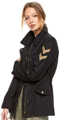 Madden NYC Juniors' Twill Military Jacket $80 thestylecure.com
