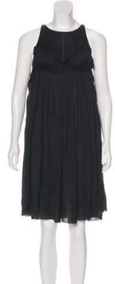 Bottega Veneta Silk Pleated Dress Black Silk Pleated Dress