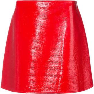 Courreges side zip mini skirt