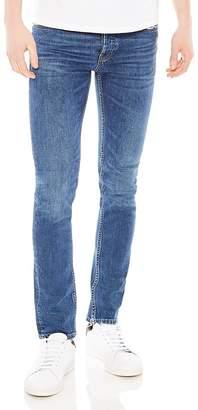 Sandro Pixies Destroy Slim Fit Jeans in Blue Vintage