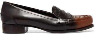 Bottega Veneta - Ombré Intrecciato Leather Loafers - Brown $790 thestylecure.com