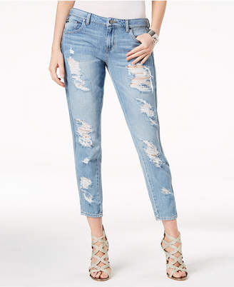 GUESS Ripped Cotton Tomboy-Fit Jeans