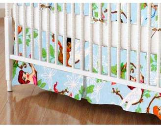 SheetWorld 100% Cotton Flannel Crib Skirt, Fairies