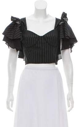 Tome Ruffle Accented Crop Top w/ Tags