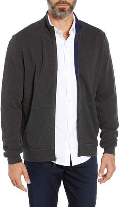 Bugatchi Reversible Knit Zip Cardigan