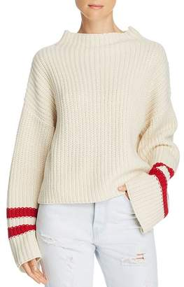 Mulberry Lost and Wander Lost + Wander Stripe-Sleeve Sweater