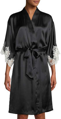 Lise Charmel Splendeur Lace-Trim Silk-Blend Robe
