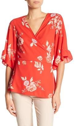 Pleione Ruffled Floral Kimono