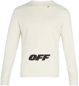 Off-White Wing-logo cotton sweatshirt