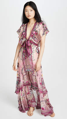 Camilla La Belle Tie Front Maxi Dress