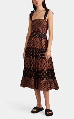 Zimmermann Women's Juno Dot-Print Linen Midi-Dress