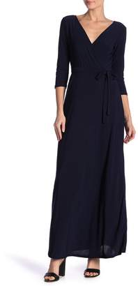 Just For Wraps Maxi Mock Wrap Dress
