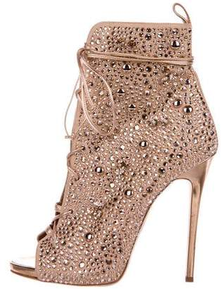JLO by Jennifer Lopez Giuseppe for 2017 Crystal-Embellished Lynda Booties