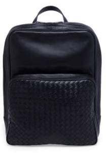 Bottega Veneta Zippered Leather Backpack