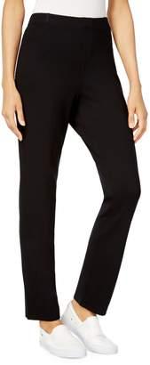Karen Scott Petite Straight-Leg Pull-On Pants