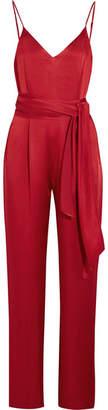 Diane von Furstenberg - Satin Jumpsuit - Red $500 thestylecure.com