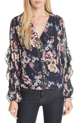 Nicholas Garden Rose Silk Blouse