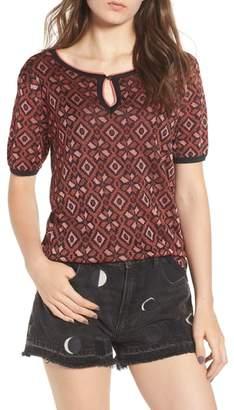 Scotch & Soda Tile Pattern Keyhole Sweater