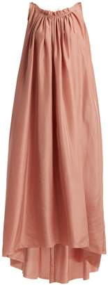 LOUP CHARMANT Gather scoop-back silk dress