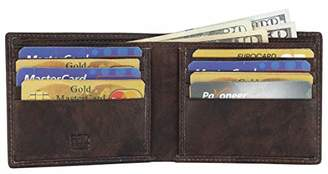 RFID Leather BiFold Wallet For Men With 1 ID Window 8 Credit Card Slots comes in a Gift Box