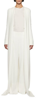 TOM FORD Floor-Length Open-Front Duster, White $3,450 thestylecure.com