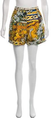 Dolce & Gabbana Floral High-Rise Shorts