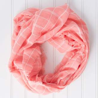 DAY Birger et Mikkelsen Tickled Pink Lightweight Plaid Game Infinity Scarf, 16 x 63 Loop, 30% Cotton; 70% Polyester, Multiple Colors