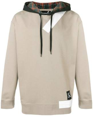 Fred Perry panelled hoodie