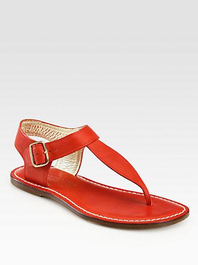 Bernardo 1946 Eva Leather Thong Sandals